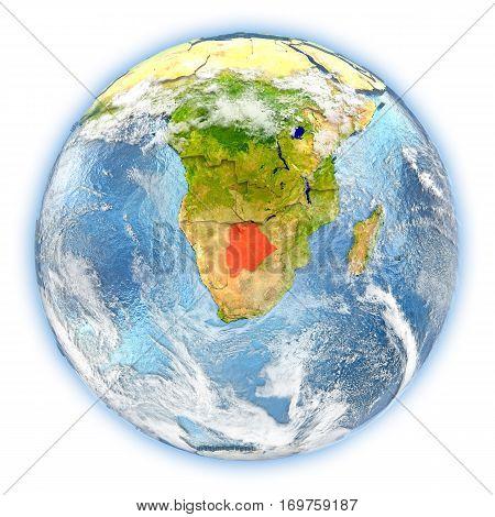 Botswana On Earth Isolated