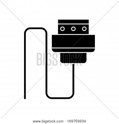 wire cable computer plug pictogram vector illustration eps 10