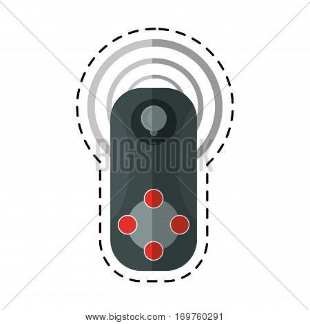 controller game vr device cut line vector illustration eps 10