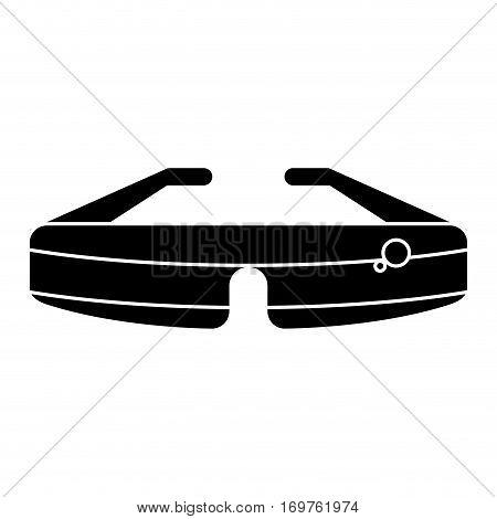 glasses virtual reality wearable technology pictogram vector illustration eps 10