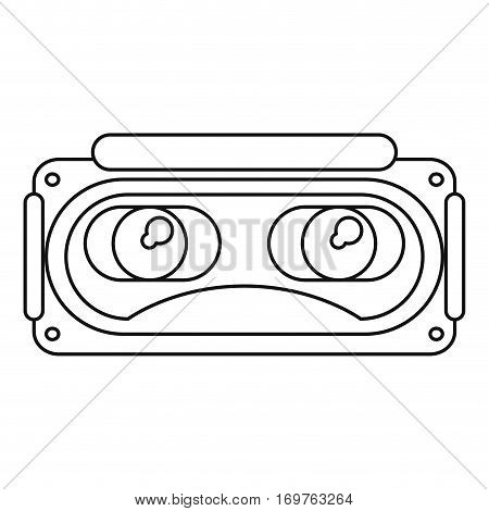 goggles 3d simulation entertaiment thin line vector illustration eps 10