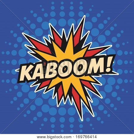 kaboom stars pop art design vector illustration eps 10