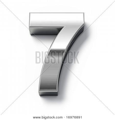3d Metal numbers - number 7