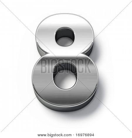 3d Metal numbers - number 8
