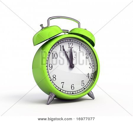 Green alarm clock