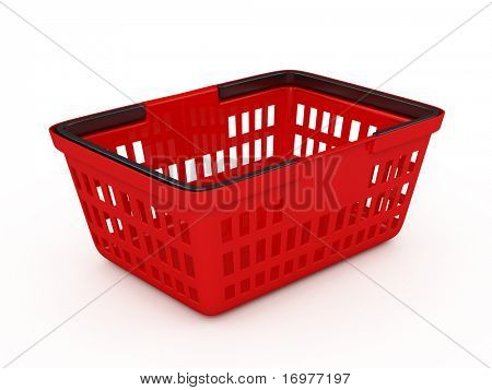 Red shopping basket
