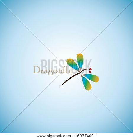 dragonfly ideas design vector illustration on background