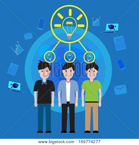 Business concept teamwork brainstorming for idea success