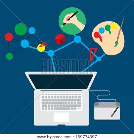 Vector Concept Work Job Graphic for inspiration