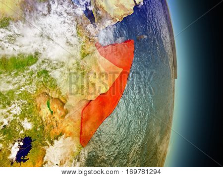 Somalia In Red From Space
