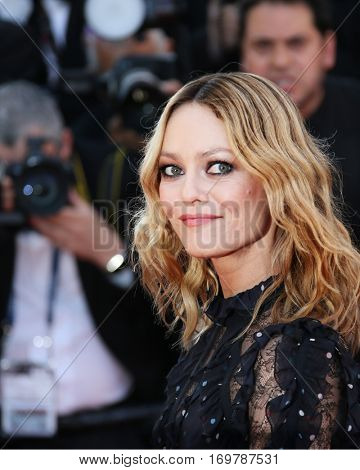 Vanessa Paradis attends the screening of 'From The Land Of The Moon (Mal De Pierres)' at the annual 69th Cannes Film Festival at Palais des Festivals on May 15, 2016 in Cannes, France.