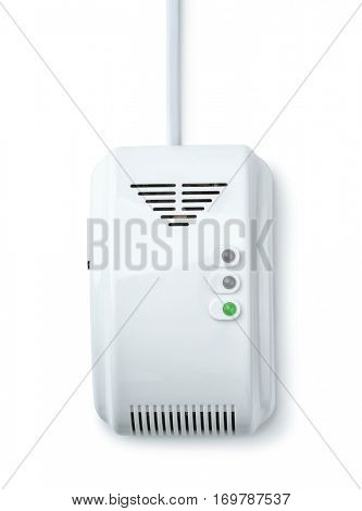 Front view of gas detector isolated on white