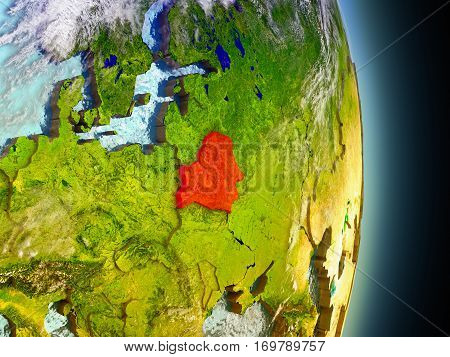 Belarus In Red From Space