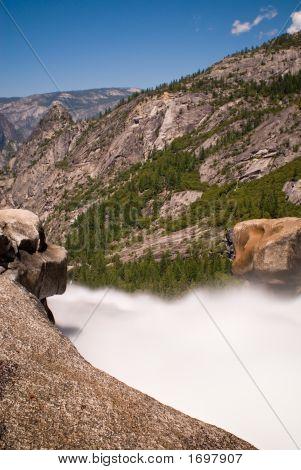 Top Of Nevada Fall In Yosemite