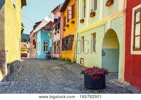 Historic Town Sighisoara, Romania. City In Which Was Born Vlad Tepes, Dracula
