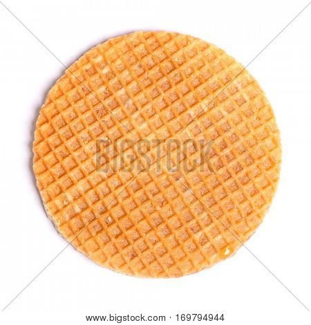 Round wafers isolated on white background