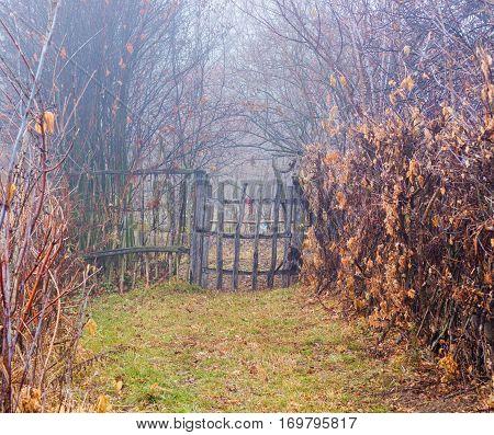 Gate  Entrance  Fog  Village