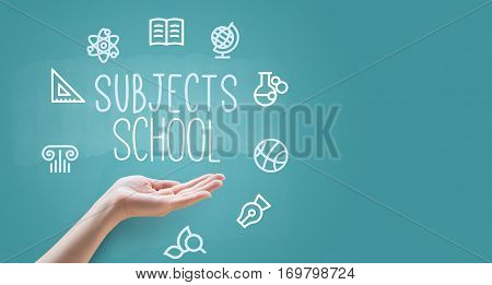 Hand Teaches School Subjects