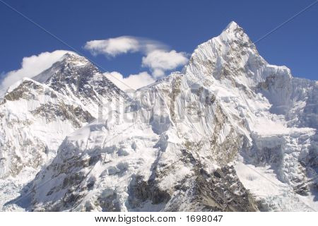 Mount Everest And Nuptse