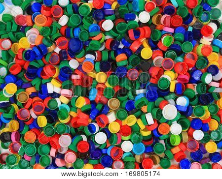Plastic Pet Caps Texture