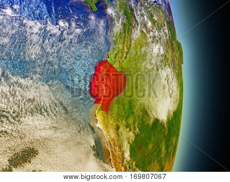 Ecuador In Red From Space