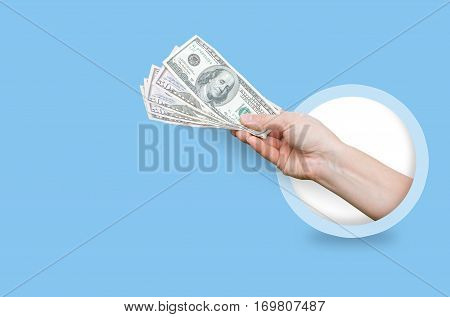 Cash. Payment is in cash concept design illustration