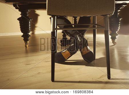 Musician feet, underside view