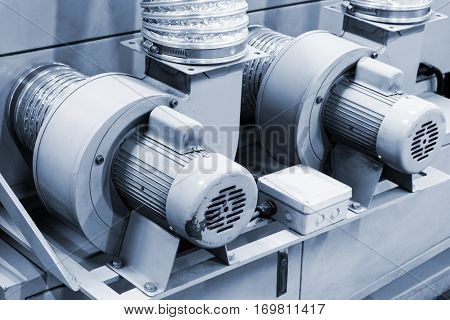 equipment for supplying air with an electric motor.