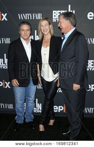 LOS ANGELES - SEP 29:  Brad Gray, Amy Powell, Mark S Greenberg at the