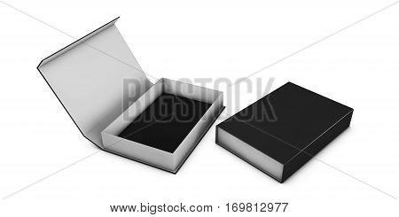 Realistic Package Cardboard Box set. For Software, electronic device and other products. 3d Illustration