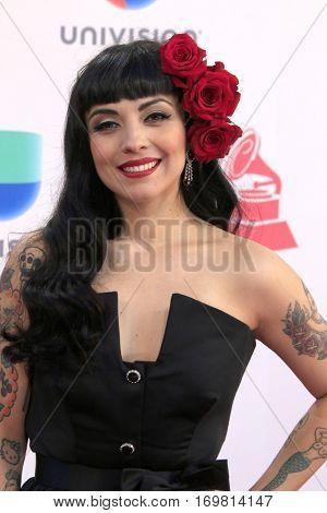 LAS VEGAS - NOV 17:  Mon Laferte at the 17th Annual Latin Grammy Awards at T-Mobile Arena on November 17, 2016 in Las Vegas, NV