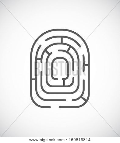 maze icon labyrinth - finger print design