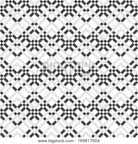 Black and white geometric seamless pattern. Simple regular background. Vector illustration