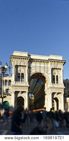 detail of architecture in milan , italy