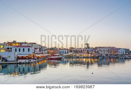 Rethymno In The Evening