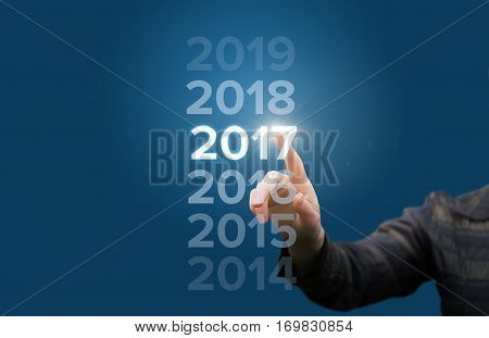 welcome in the new year concept design illustration banner