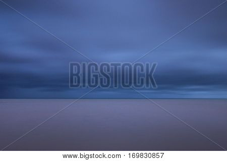 Abstract seascape - long exposure photo os sea and clouds
