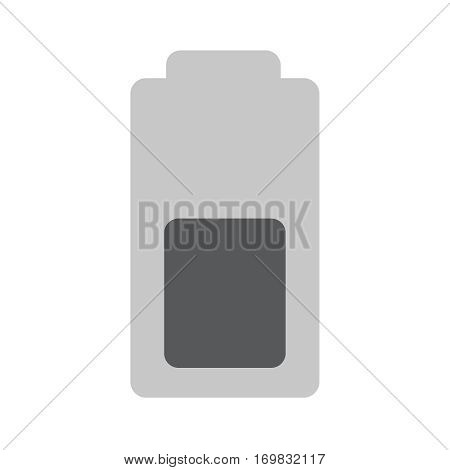 Battery half sign line vector icon. Electrical power sign. Rechargeable energy symbol.