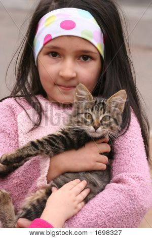 The Girl With A Kitten