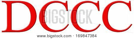 Roman Numeral Dccc, Octingenti, 800, Eight Hundred, Isolated On White Background, 3D Render