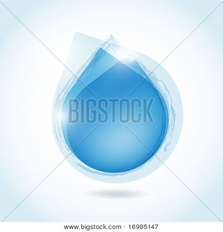 speech bubble from blue water drop