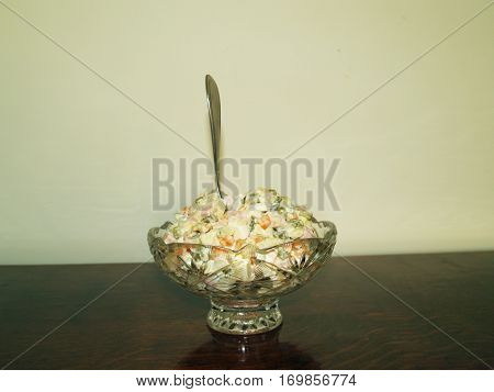 Olivier salad is the name received in honor of its Creator chef Lucien Olivier