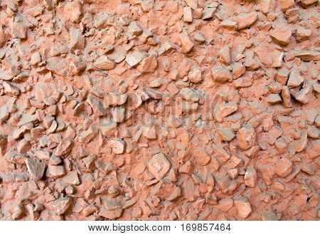 Texture Of Red Stone Close Up