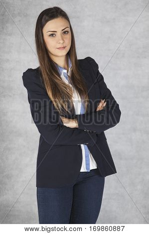 Portrait Of A Nice Business Woman, Isolated