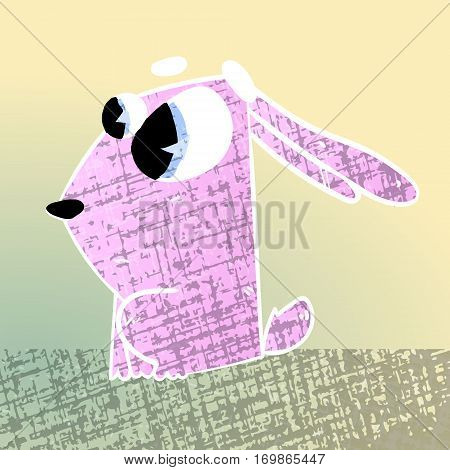 cute texture cartoon character rabbit crazy vector zoo