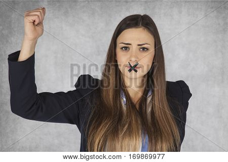Business Woman Has Nothing Interesting To Say