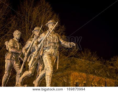 War memorial in charlottetown prince edward island
