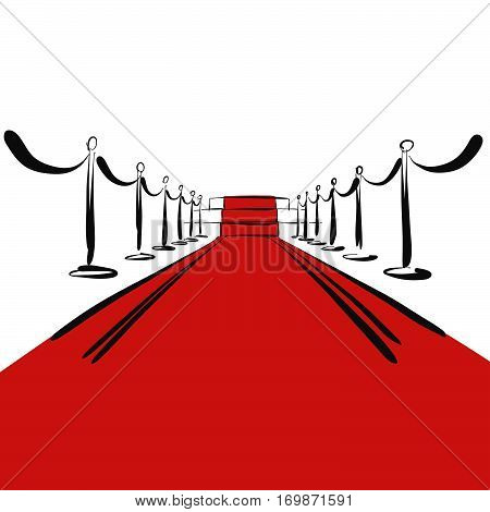 Red Carpet With Steps On Stage, Background