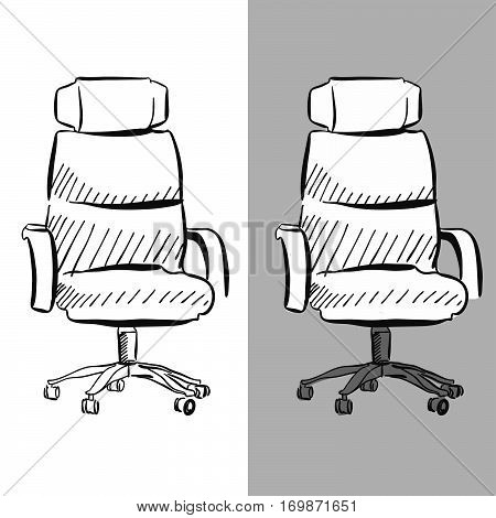 Office Chair Chair Vector Sketch