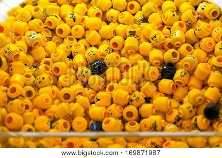 Pile Of Lego Minifigure Heads